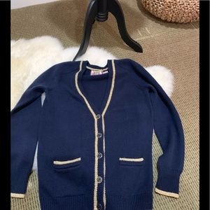 Juicy Couture Navy and Gold Cardigan Sweater ❄️